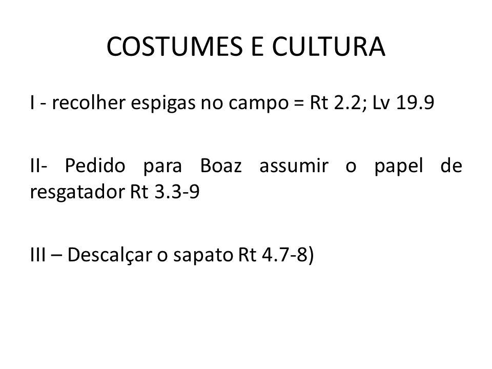 COSTUMES E CULTURA