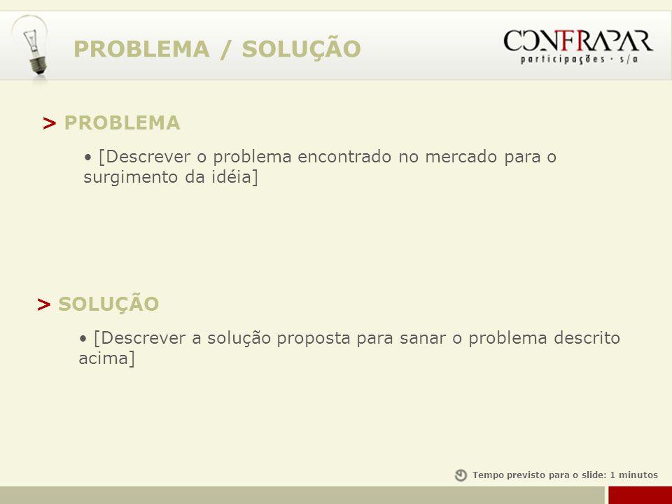 PROBLEMA / SOLUÇÃO > PROBLEMA > SOLUÇÃO