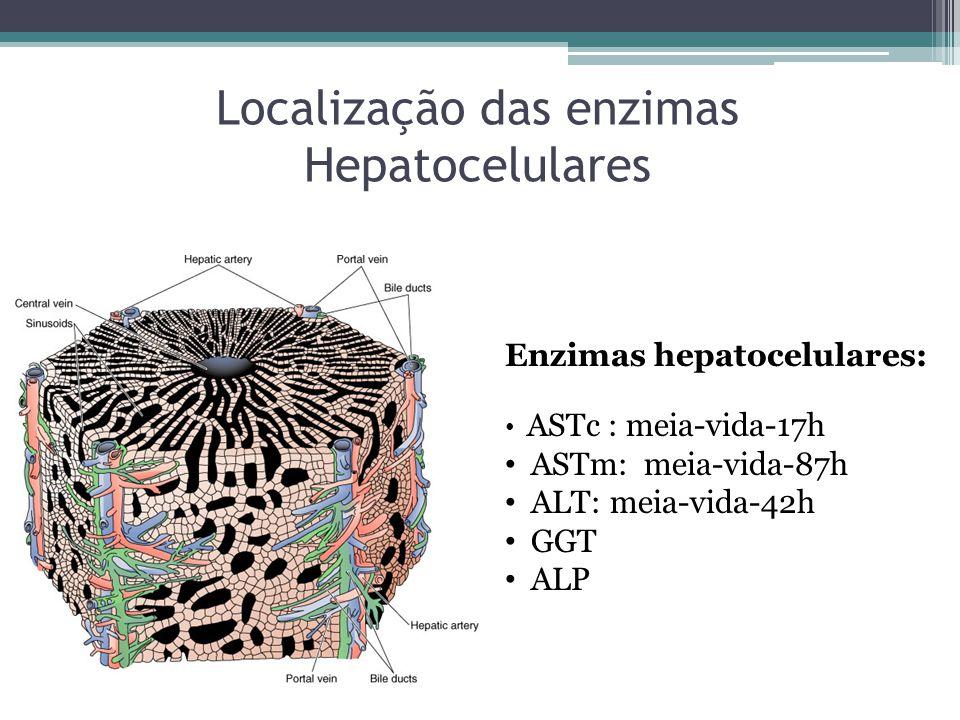 Localização das enzimas Hepatocelulares