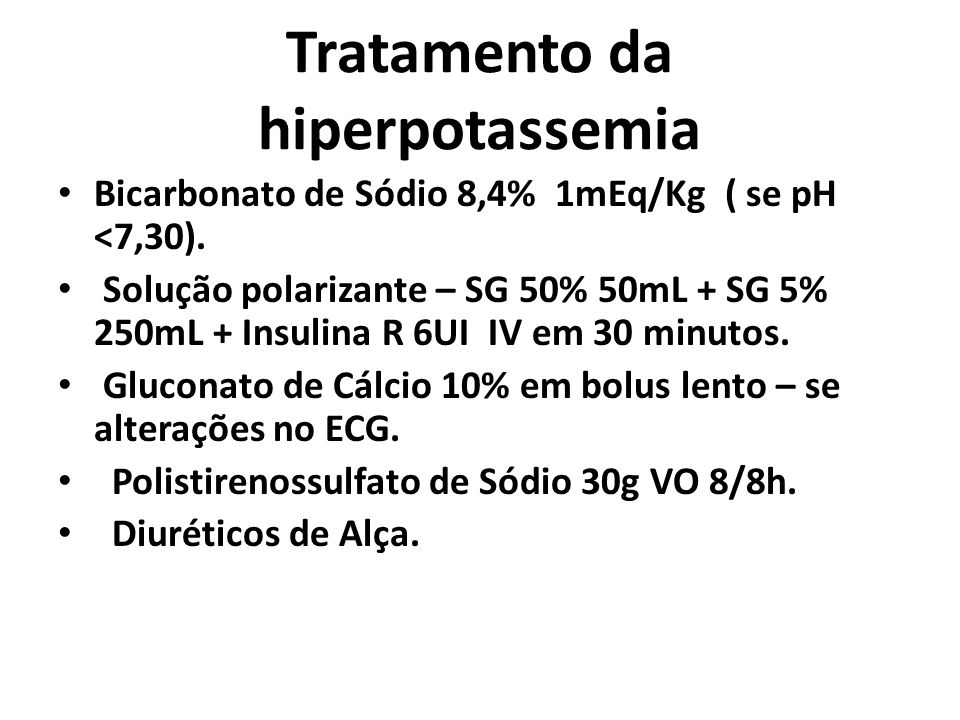 Tratamento da hiperpotassemia