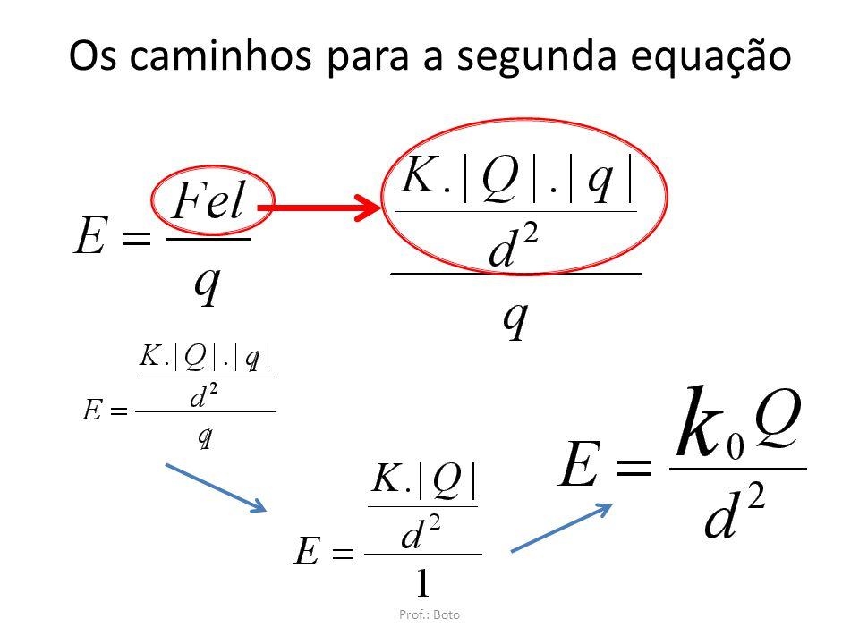 Os caminhos para a segunda equação