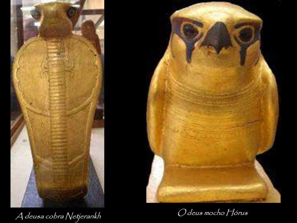 O deus mocho Hórus A deusa cobra Netjerankh