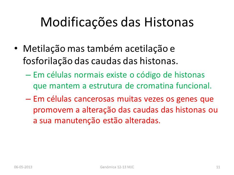 Modificações das Histonas