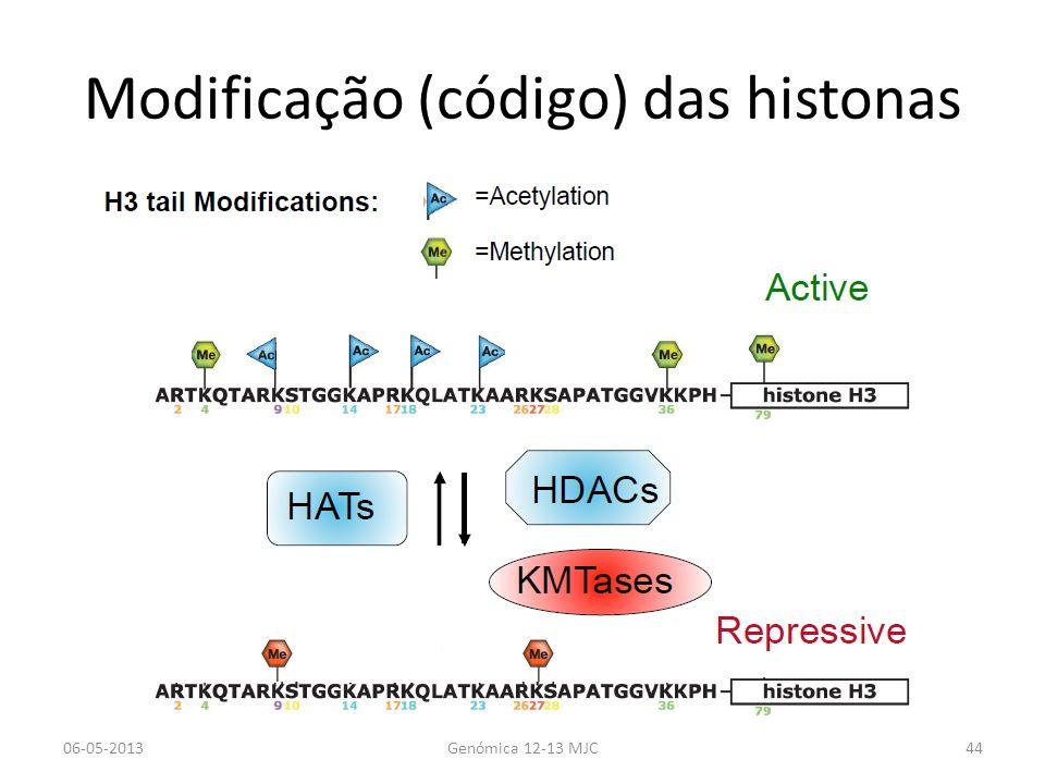 Modificação (código) das histonas