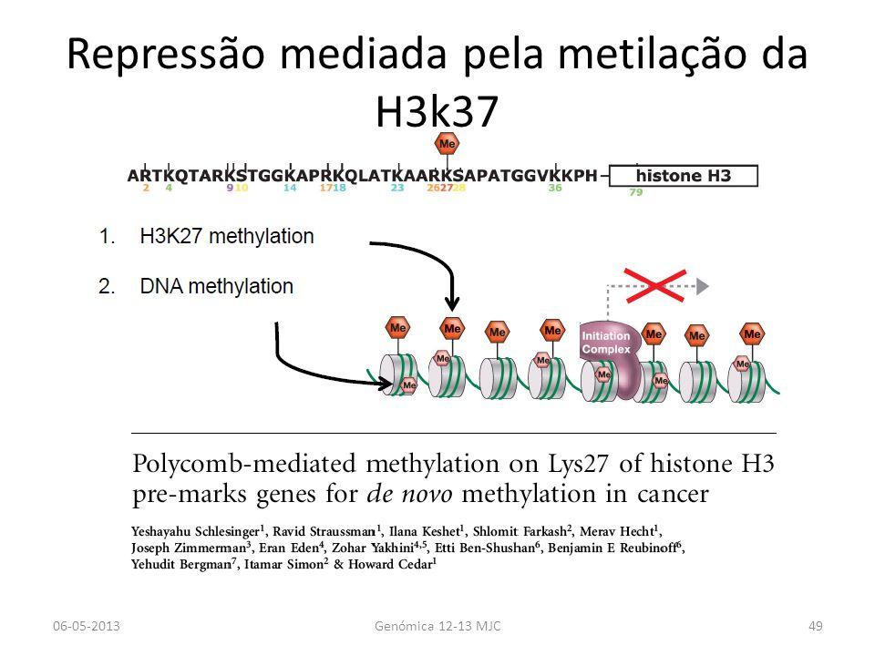 Repressão mediada pela metilação da H3k37