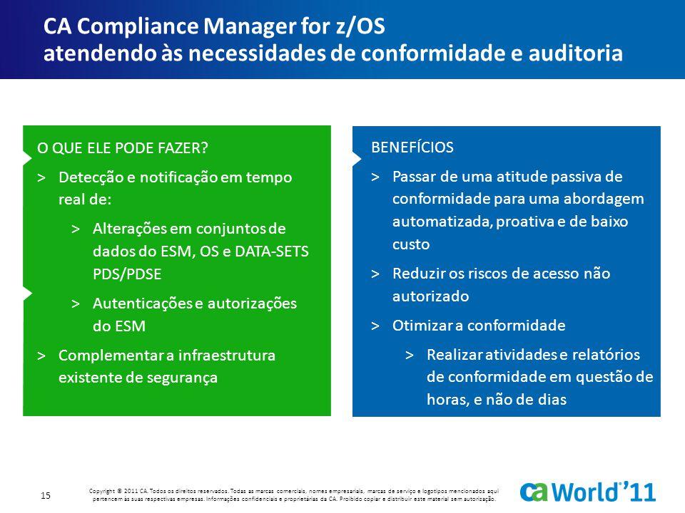 CA Compliance Manager for z/OS atendendo às necessidades de conformidade e auditoria