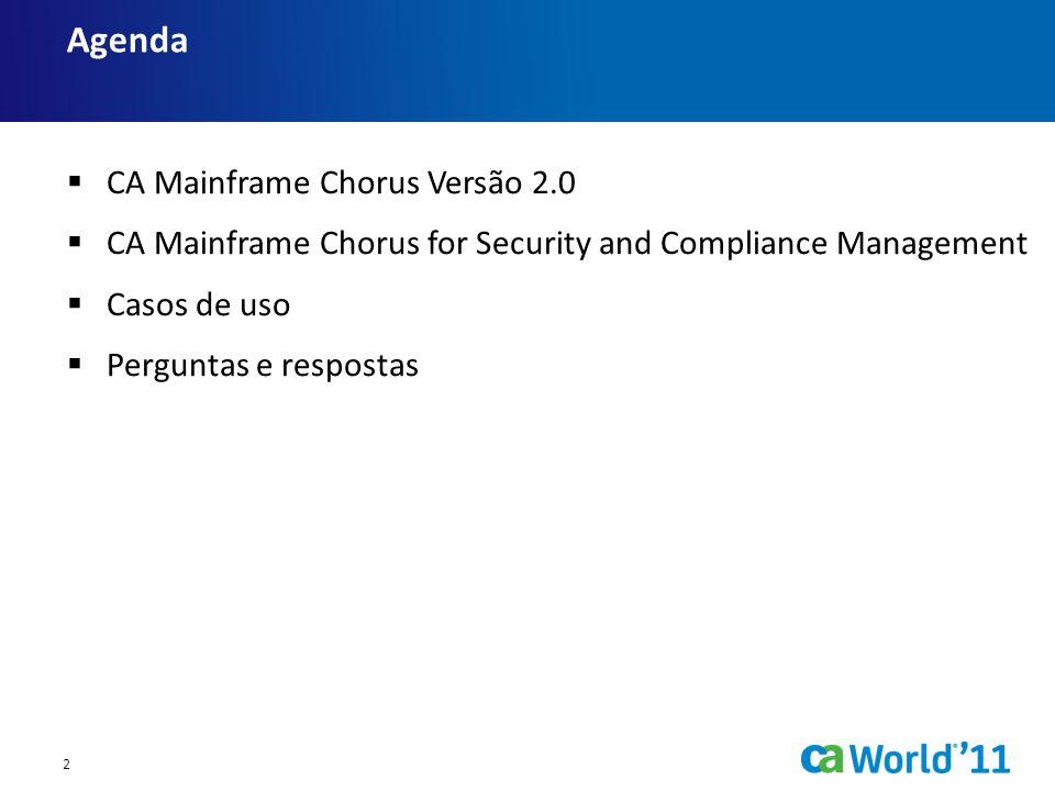 Agenda CA Mainframe Chorus Versão 2.0