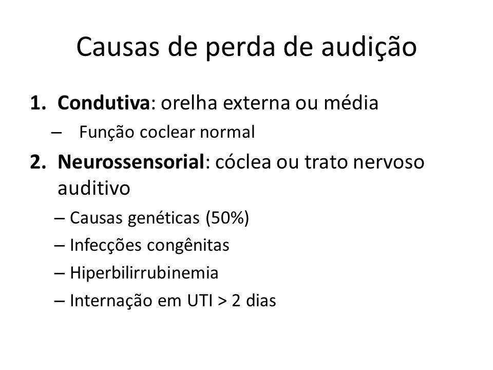 Causas de perda de audição