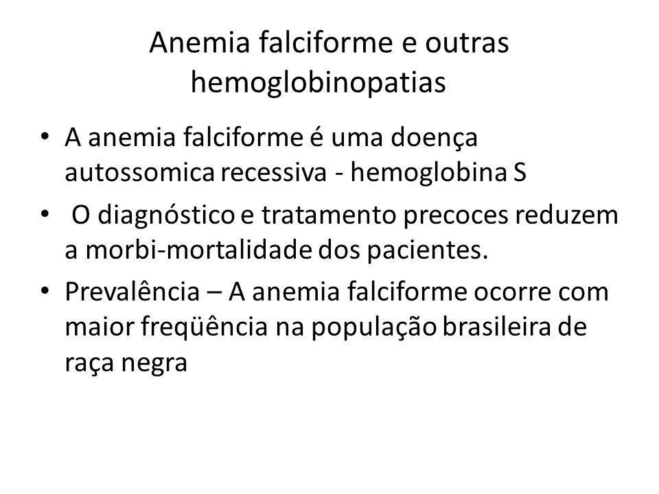 Anemia falciforme e outras hemoglobinopatias