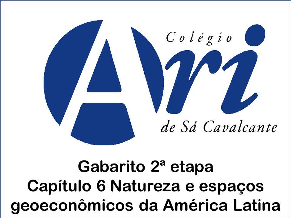 Capítulo 6 Natureza e espaços geoeconômicos da América Latina