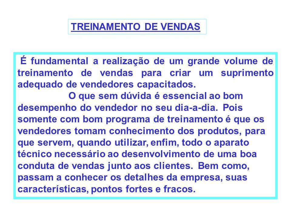 TREINAMENTO DE VENDAS
