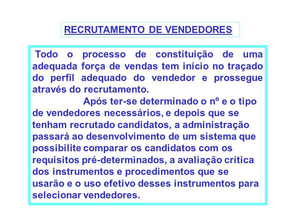 RECRUTAMENTO DE VENDEDORES