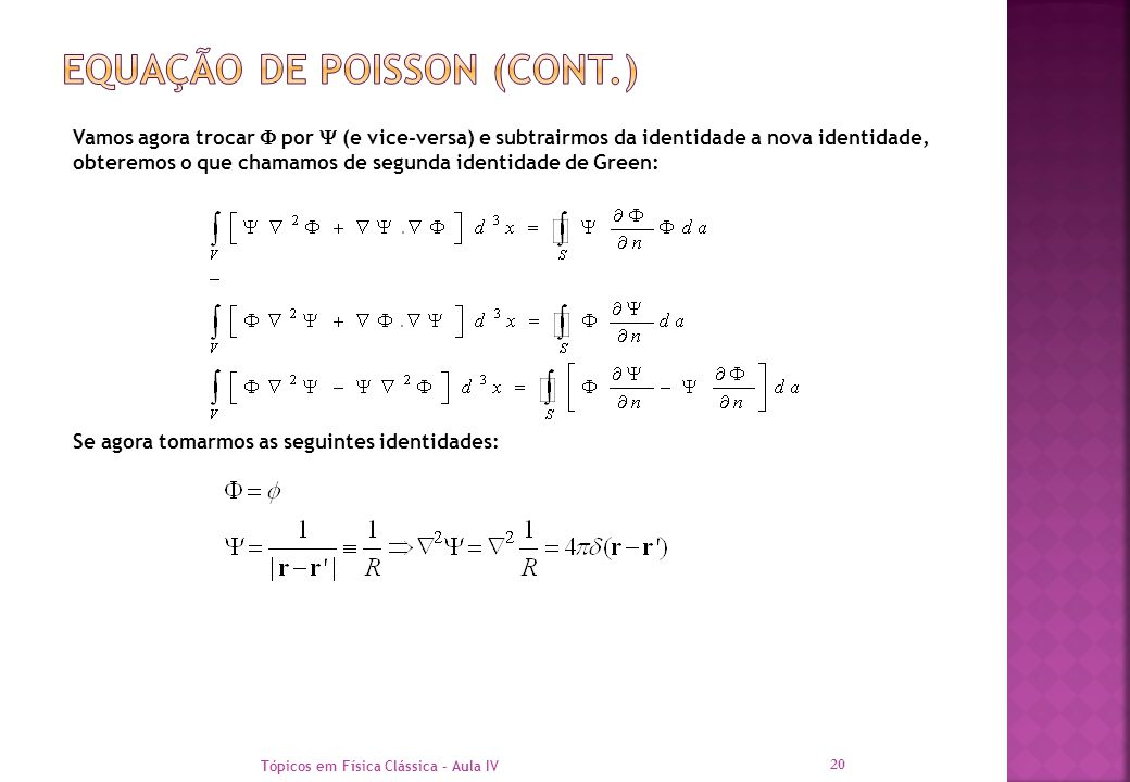 Equação de poisson (cont.)