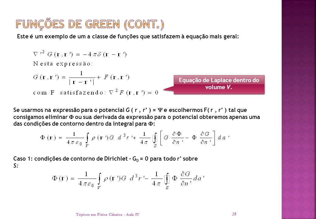 Funções de green (cont.)