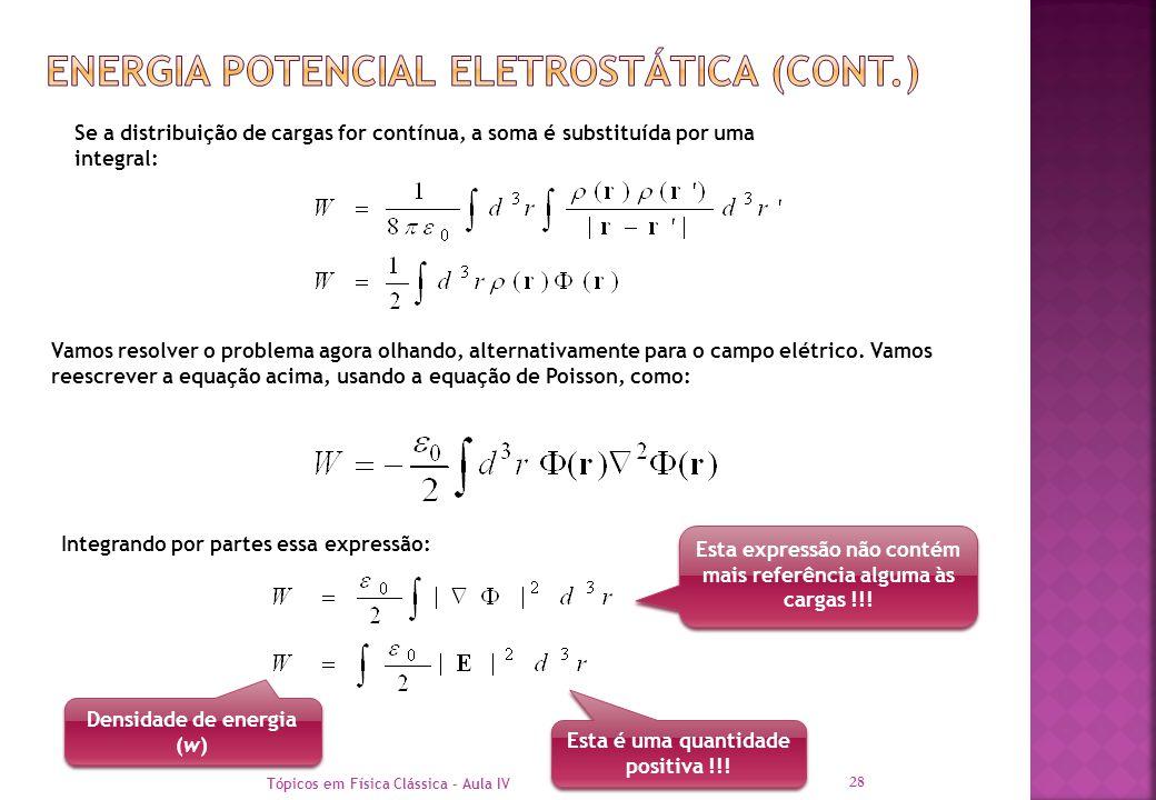 Energia Potencial eletrostática (cont.)