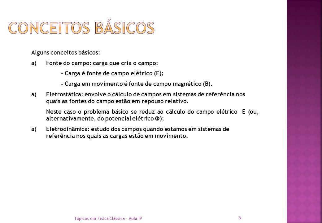 Conceitos Básicos Alguns conceitos básicos: