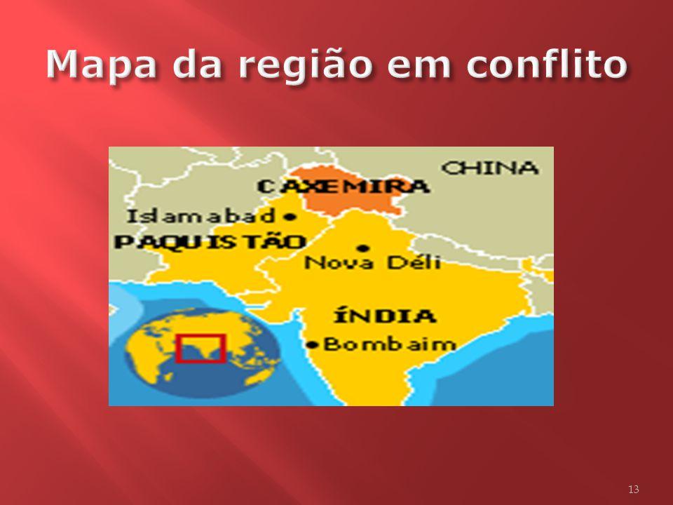Mapa da região em conflito