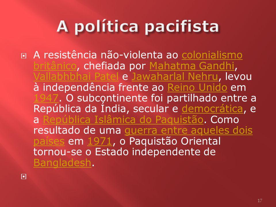 A política pacifista