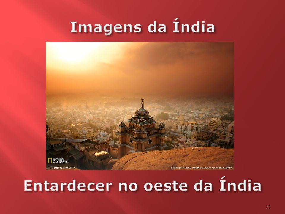Imagens da Índia Entardecer no oeste da Índia