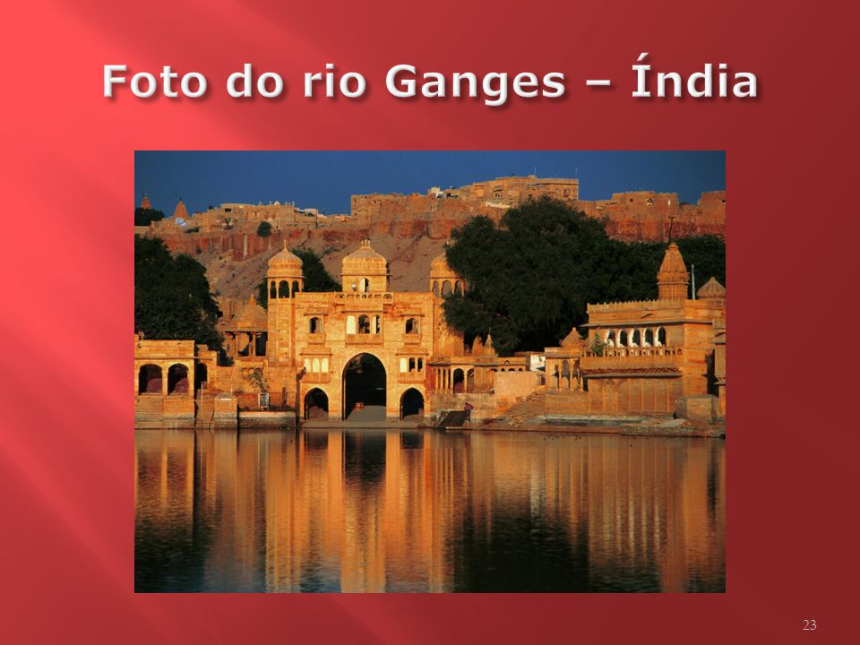 Foto do rio Ganges – Índia