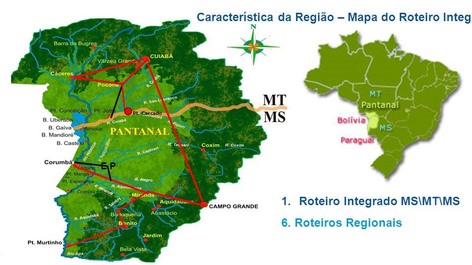 Característica da Região – Mapa do Roteiro Integrado