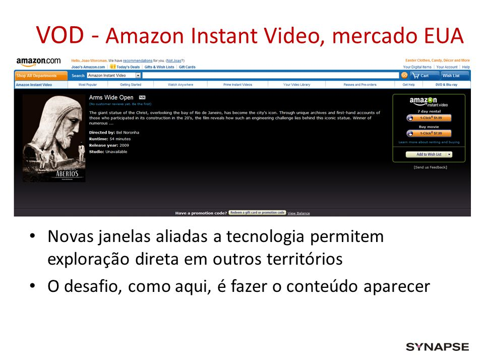 VOD - Amazon Instant Video, mercado EUA