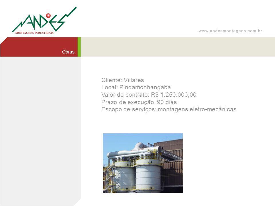 Local: Pindamonhangaba Valor do contrato: R$ 1.250.000,00