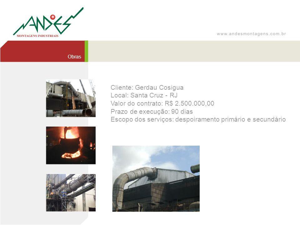 Cliente: Gerdau Cosigua Local: Santa Cruz - RJ