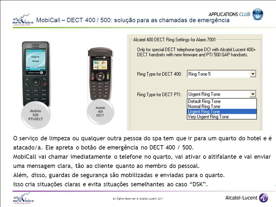 MobiCall – DECT 400 / 500: solução para as chamadas de emergência