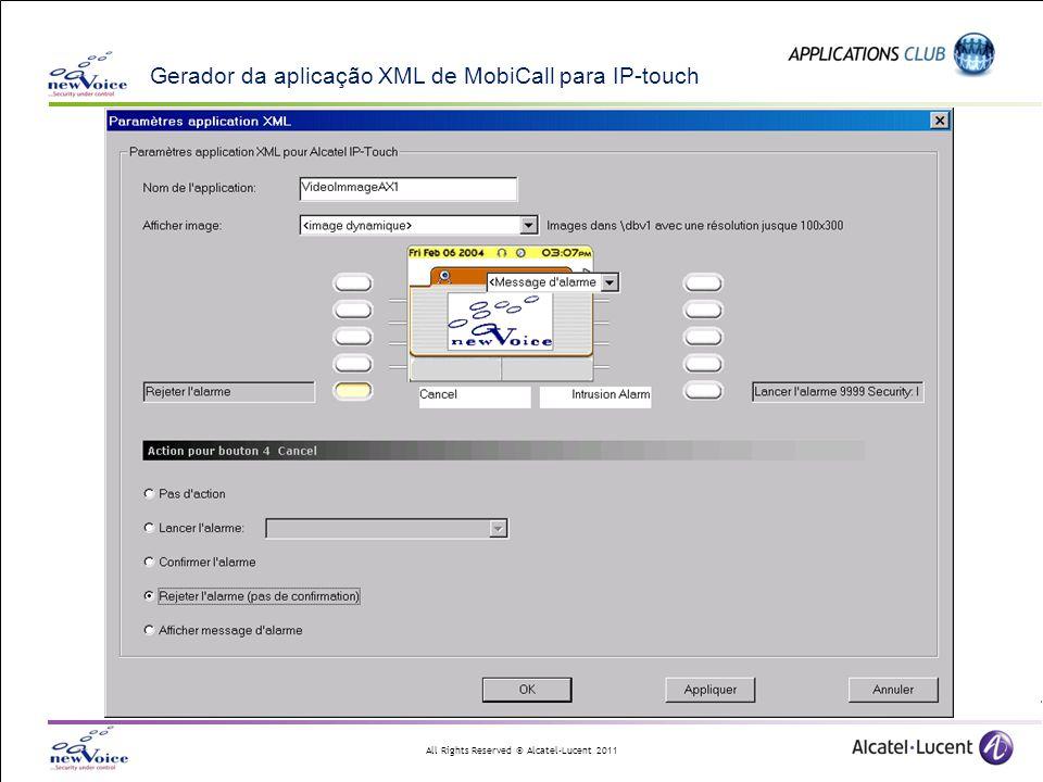 Gerador da aplicação XML de MobiCall para IP-touch