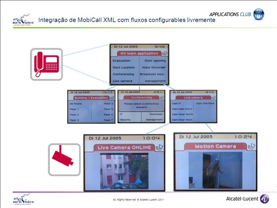 Integração de MobiCall XML com fluxos configurables livremente