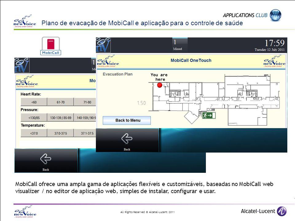 Plano de evacação de MobiCall e aplicação para o controle de saúde