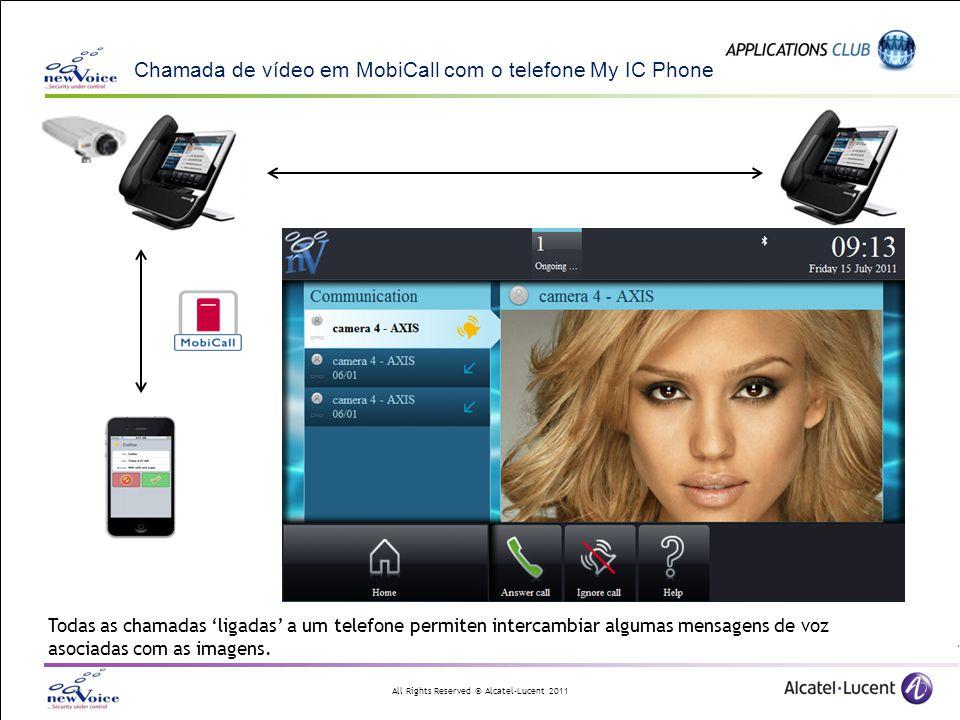 Chamada de vídeo em MobiCall com o telefone My IC Phone