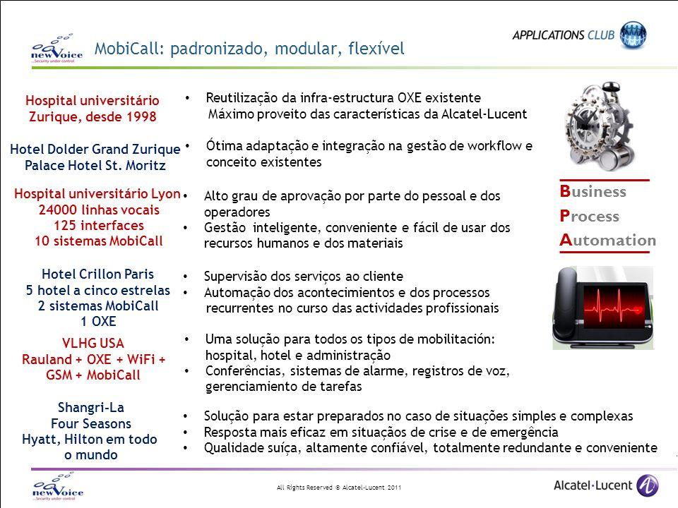 MobiCall: padronizado, modular, flexível