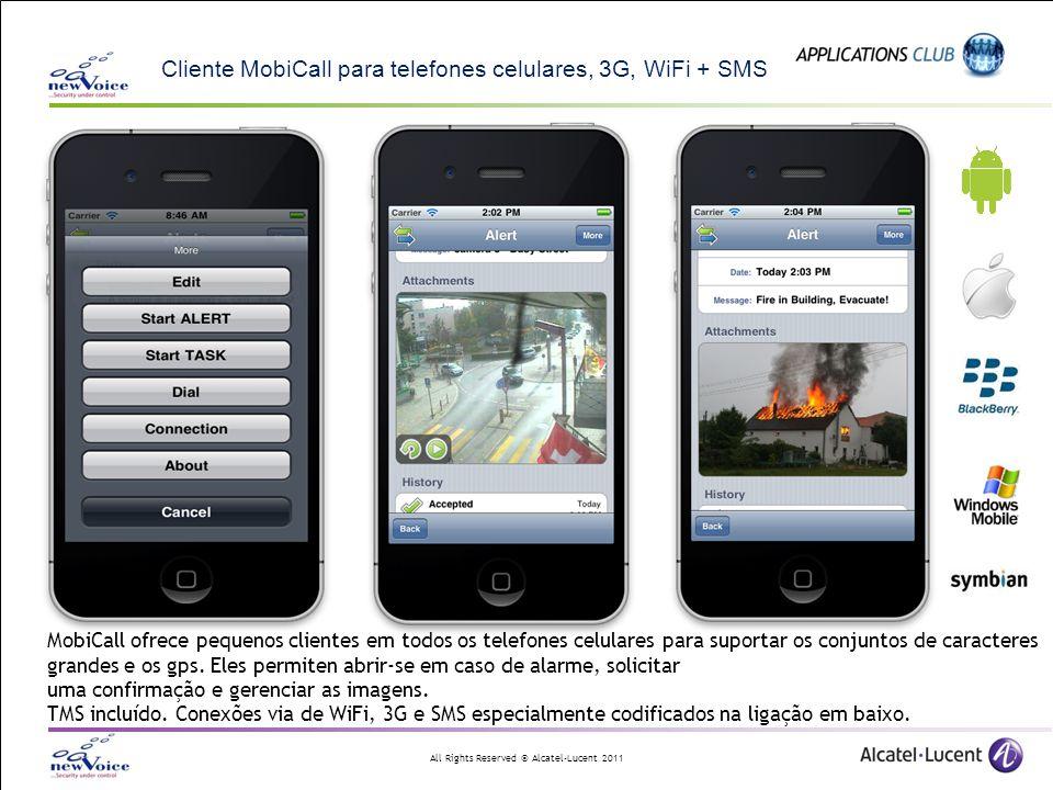 Cliente MobiCall para telefones celulares, 3G, WiFi + SMS
