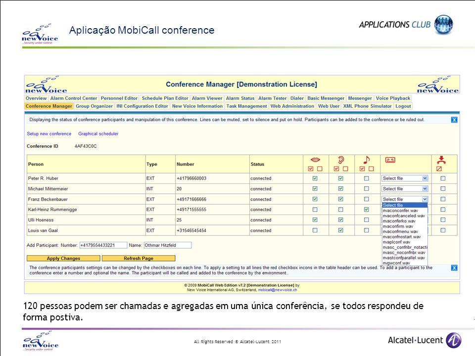 Aplicação MobiCall conference