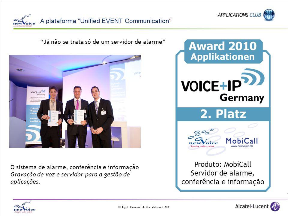 Produto: MobiCall Servidor de alarme, conferência e informação
