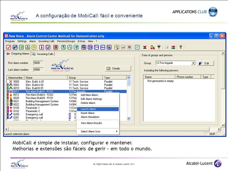 A configuração de MobiCall: fácil e conveniente