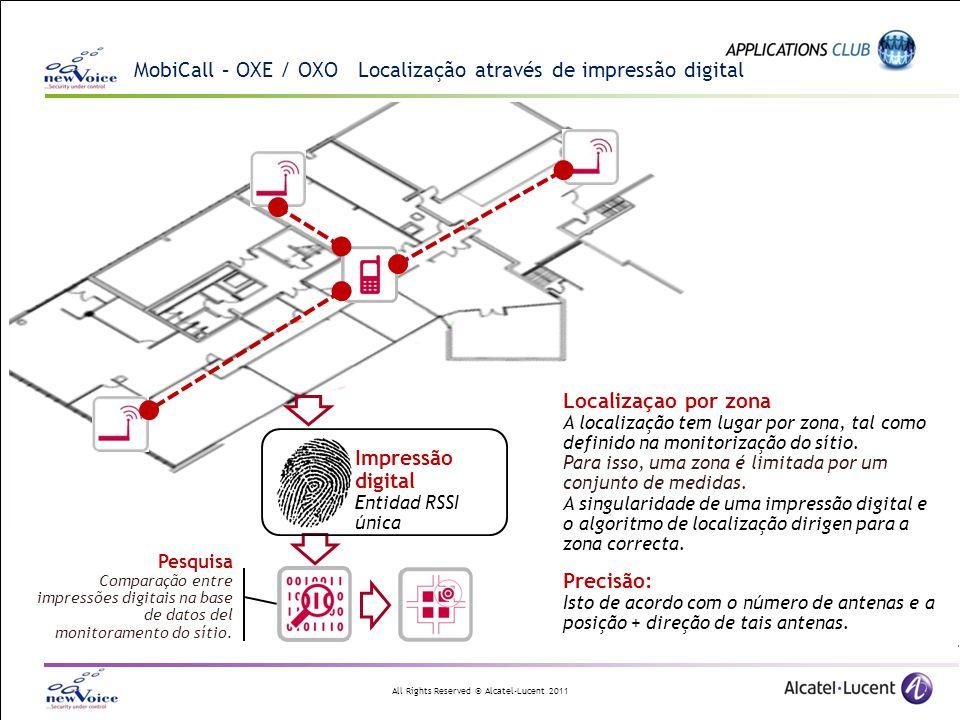 MobiCall – OXE / OXO Localização através de impressão digital