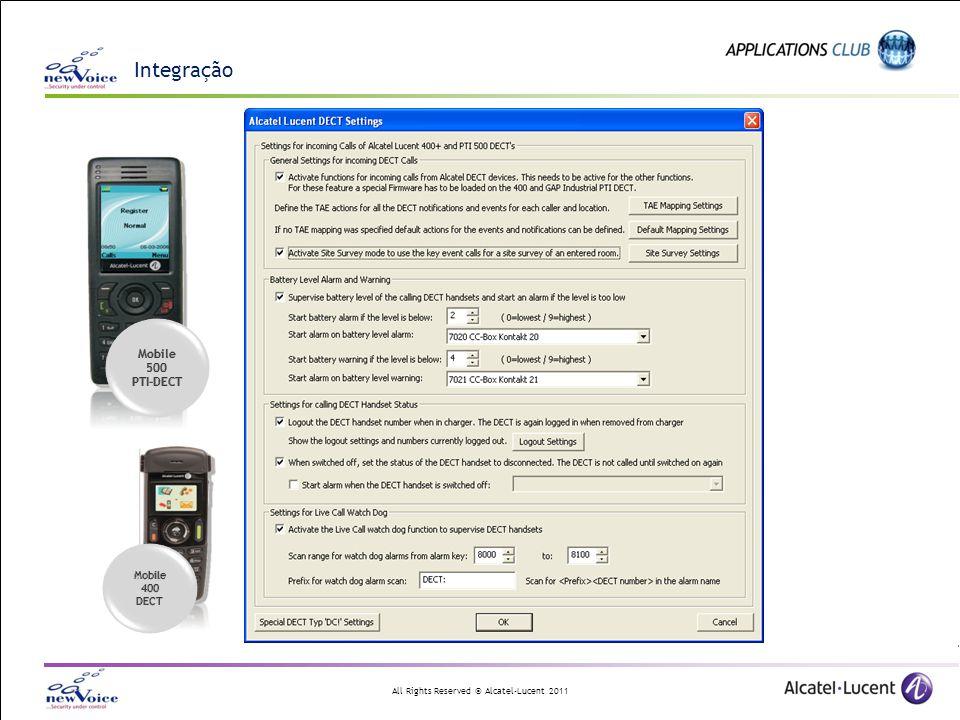 Integração Mobile 500 PTI-DECT 400 DECT
