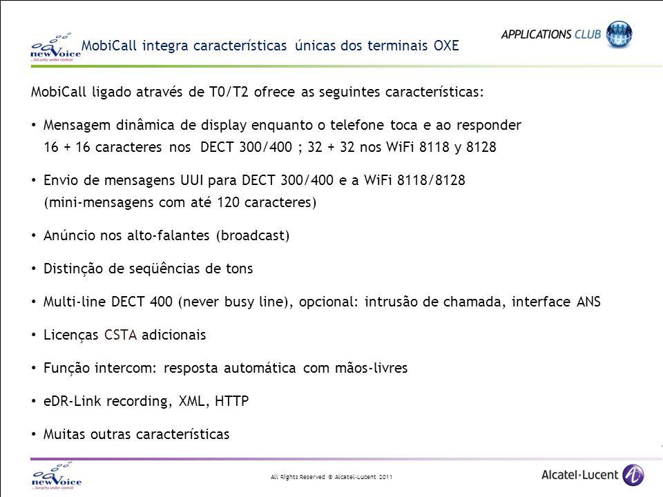 MobiCall integra características únicas dos terminais OXE