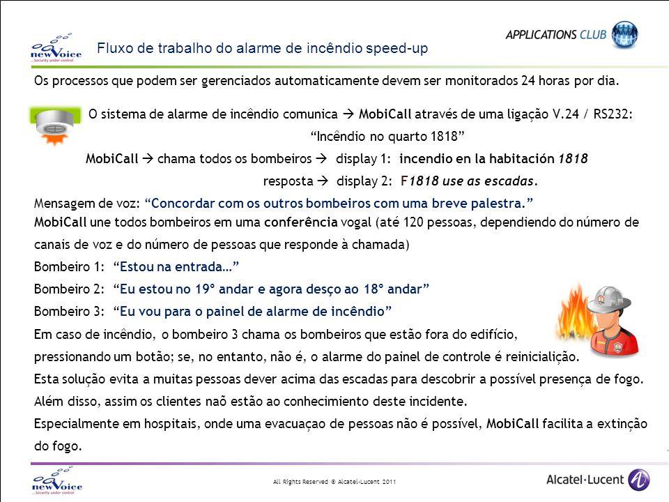 Fluxo de trabalho do alarme de incêndio speed-up