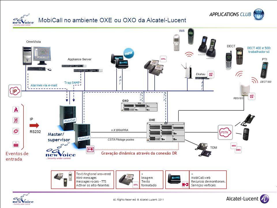 MobiCall no ambiente OXE ou OXO da Alcatel-Lucent