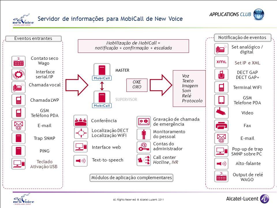 Servidor de informações para MobiCall de New Voice