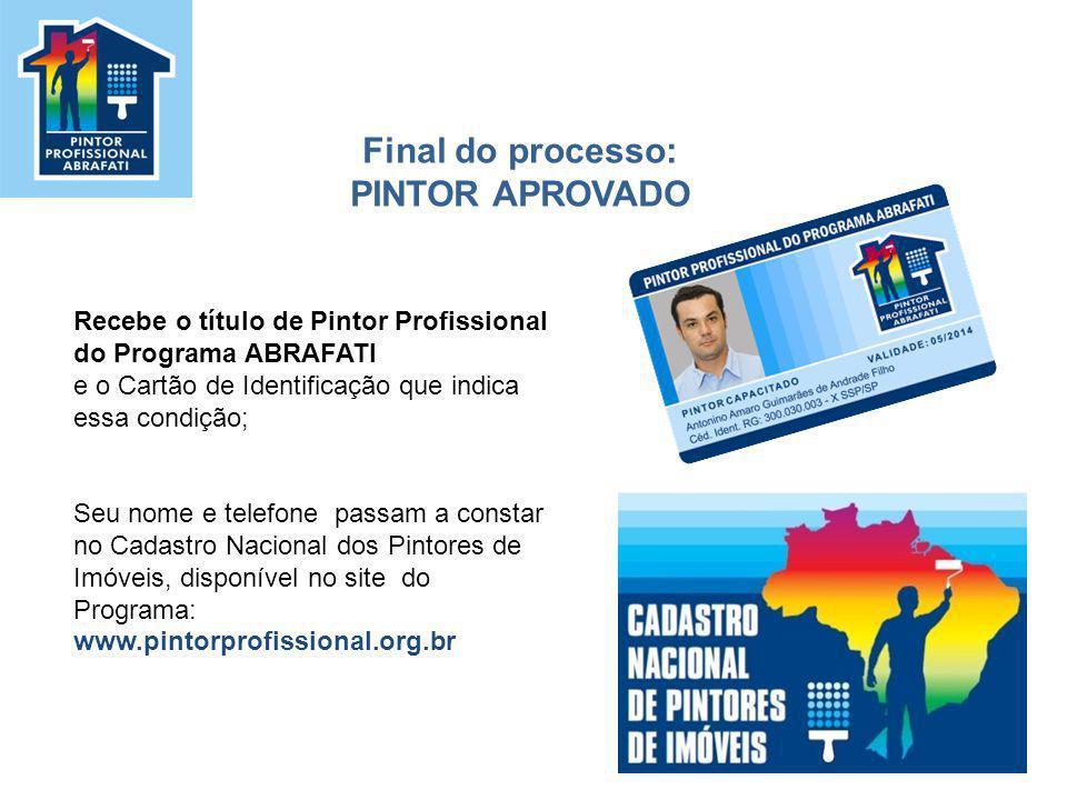 Final do processo: PINTOR APROVADO