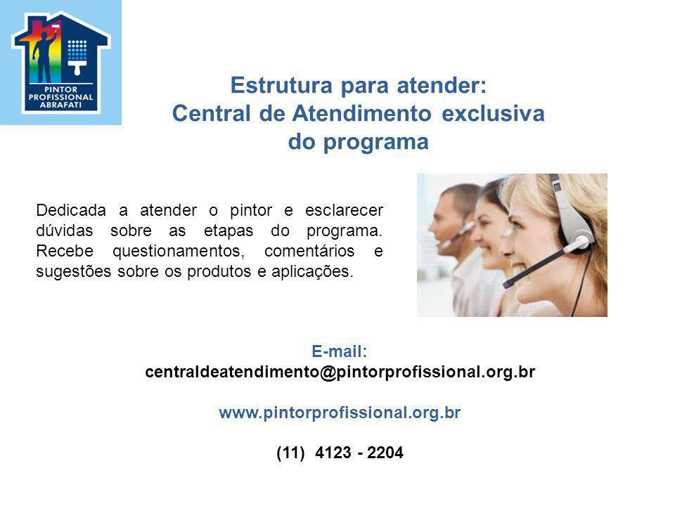 Estrutura para atender: Central de Atendimento exclusiva do programa
