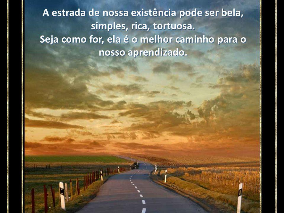 A estrada de nossa existência pode ser bela, simples, rica, tortuosa
