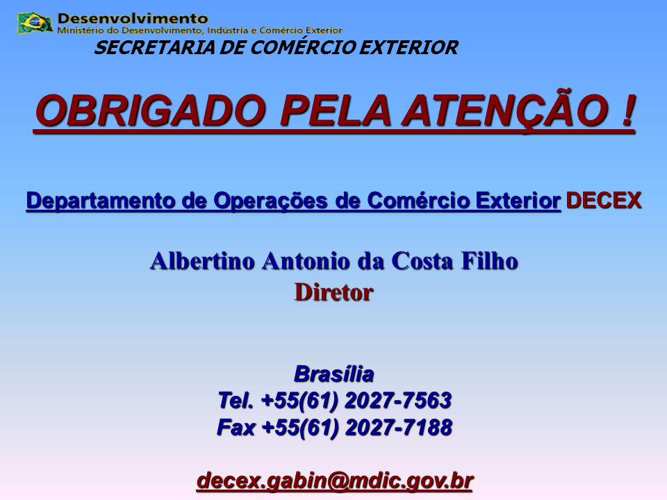 OBRIGADO PELA ATENÇÃO ! Albertino Antonio da Costa Filho Diretor