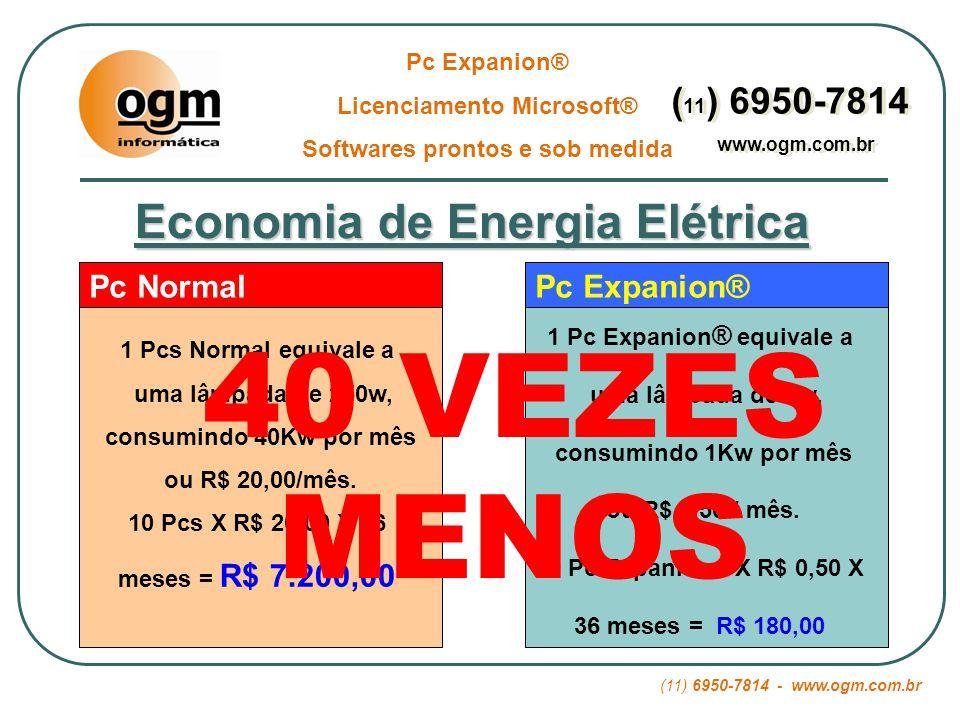 40 VEZES MENOS Economia de Energia Elétrica (11) 6950-7814 Pc Normal