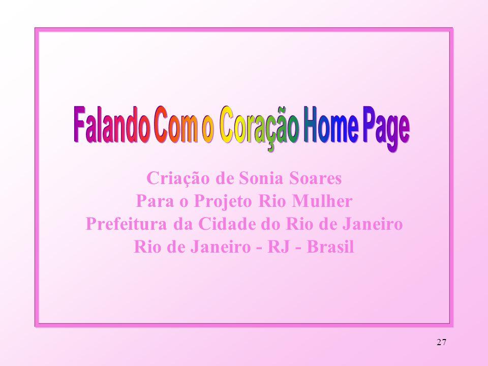 Falando Com o Coração Home Page